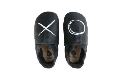 נעלי טרום הליכה לבן עם הדפס איקס עיגול