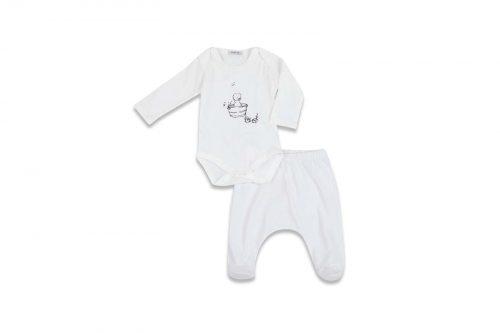 סט 3 חלקים לבן תינוקת