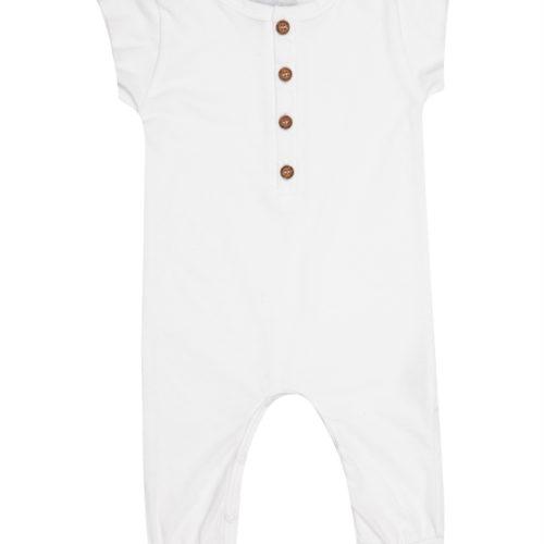 אוברול מכנס ארוך לבן
