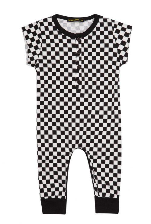 אוברול מכנס ארוך משבצות