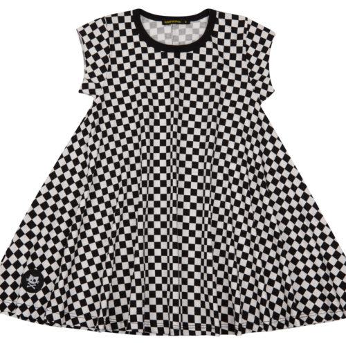 שמלה מסתובבת משבצות