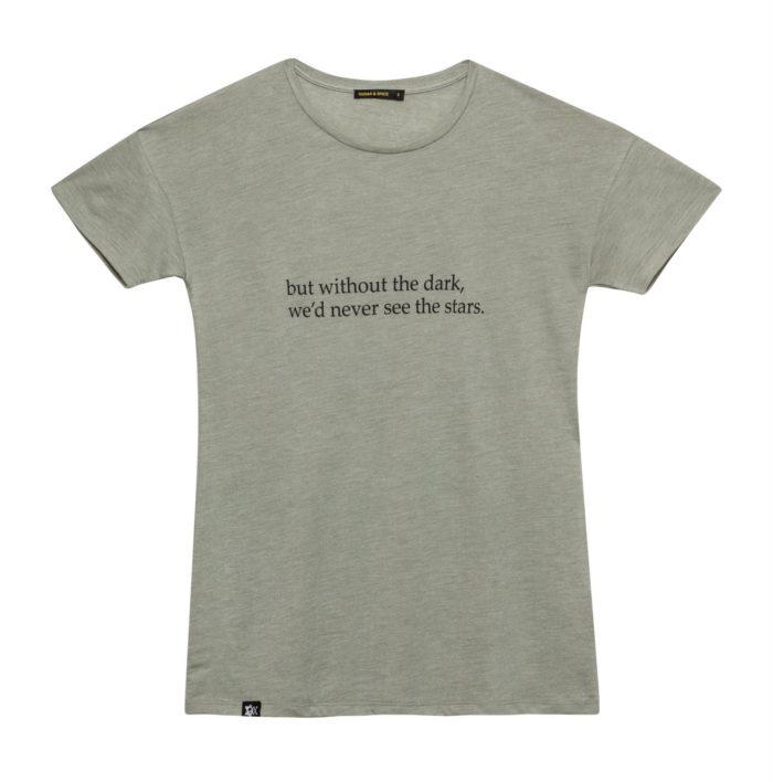 חולצת נשים זית כיתוב