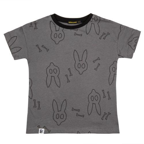 חולצת ארנבים אפורה