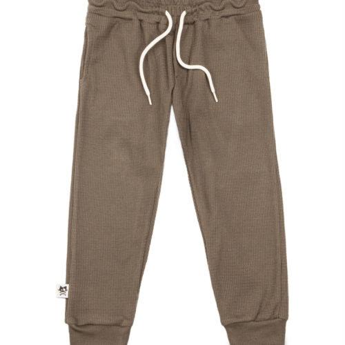 מכנסי וופל זית