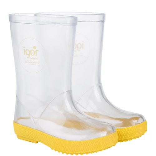 מגפי ילדים IGOR שקוף צהוב